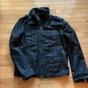 Superdry Men's XL Leather Jacket